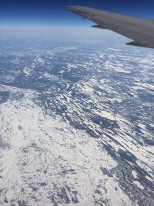 The Canadian escarpment in late April windswept and snow laced